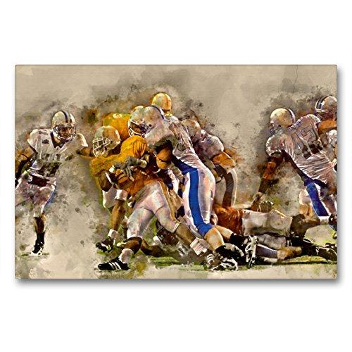 CALVENDO Premium Textil-Leinwand 90 x 60 cm Quer-Format American Football, Leinwanddruck von Peter Roder