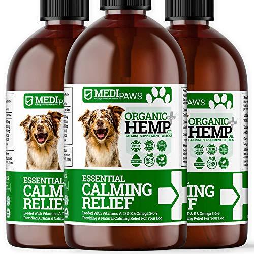 500ml DOG CALMING HEMP OIL | High Strength Natural Organic Hemp Oil Drops For Dogs & Cats | Pet Supplement | Omega 3,6,9 | Made In UK (3x 500ml)