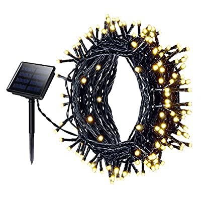 200 LED Fairy Lights, Mpow Solar String Lights Waterproof Solar Powered Fairy Lights, Outdoor Christmas Lights 72 ft 22m 8 Modes for Garden, Home, Patio, Yard, Trees, Parties, Wedding Warm White