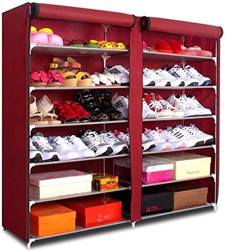 ORGANIZADOR DE ZAPATORIO EXPLICAMIENTO SERIFICADOR DE ZAPAJE DE ZAPACIDAD DE CUBIERTA DE POLVO Gabinete de zapatos Gabinete de almacenamiento Mueble de almacenamiento Organizador de rack de almacenami