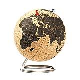 SUCK UK Mini Cork Globe / Kleiner Kork Globus – halten Sie ihre Reisen, Abenteuer und Erinnerungen fest
