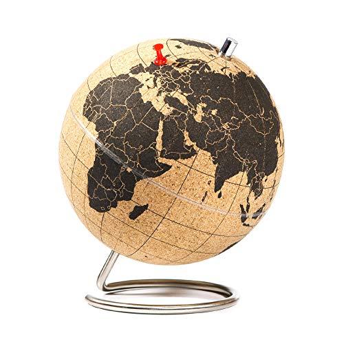 SUCK UK - MINI DESKTOP CORK GLOBE | PUSH PINS INCLUDED | EDUCATIONAL...