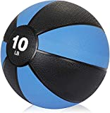 Epetlover 10 lbs Medicine Ball Exercise Weighted Fitness Workout Balls for Core Strength, Balance and Flexibility Improves, with Rubber Shell Textured Grip