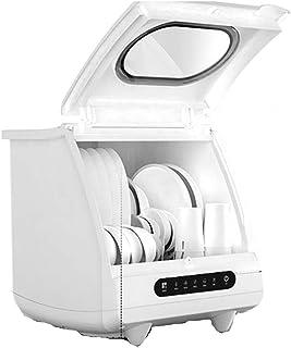 GuoEY Lavavajillas doméstico de sobremesa, Secado automático y desinfección, Lavadora de vajilla integrada, instalación Gratuita, 6 Juegos de Capacidad de vajilla