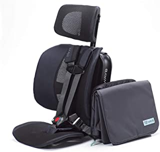 WAYB Pico Travel Car Seat and Travel Bag Bundle, Black - Portable and Foldable Forward-Facing Only Convertible Car Seat for Everyday, Carpool, Rideshare and Airplane