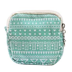 BIGBOBA Women Girl Zipper Portable Sanitary Pad Bag Canvas Sanitary Napkin Organizer Makeup Coin Pouch Small Convenience Bags
