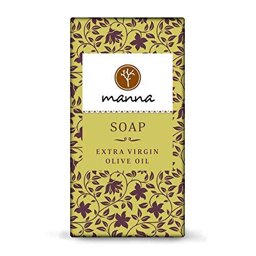 Manna Seife | Besonders sanft und zart, auch bei Neurodermitis geeignet | Extra Virgin Olivenöl Seife | 80g | 100% natürliche Inhaltsstoffe, Vegan, Palmölfrei, Tierversuchsfreiheit