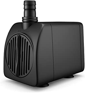 Uniclife UL210 Submersible Water Pump 210 GPH 13W Quiet Indoor Outdoor Water/Garden/Fountain/Pool/Aquarium with 6 Feet UL Listed Cord