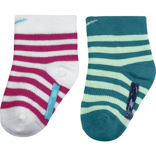Nike 2PPK Kids Little Anti-Slip SOC SX4811-Socken-Baby Rouge/Bleu/Blanc S