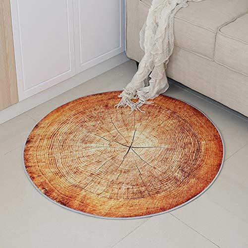 XKMY Alfombra redonda de estilo nórdico, alfombra 3D, cojín de silla de salón familiar para niños, alfombra redonda (color: No.5, tamaño: diámetro 120 cm)