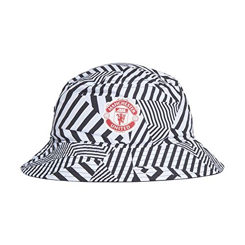 adidas MUFC Bucket Hat, Cappellino Unisex – Adulto, White/Black/Real Red, OSFY