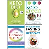 Keto Diet, Keto-Green 16, The Hormone Fix, Intermittent Fasting The Complete Ketofast Solution 4 Books Collection Set