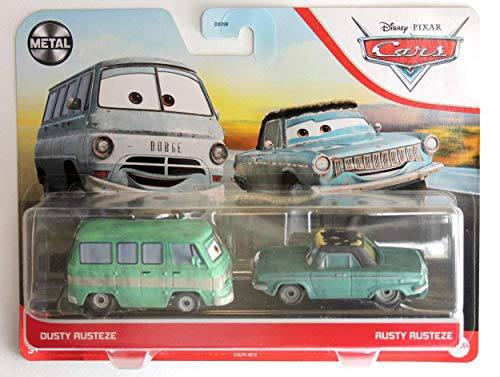 Disney Pixar Cars Metal Series [Dusty Rusteze and Rusty Rusteze] 1:55 Scale Double Pack