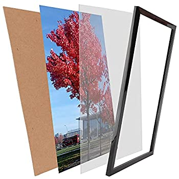 Medog 17x11 Picture Frame without Mat to Display Wall Mounting 17x11 Inch Document Certificate Frames If Add Mat Can As 11x14 11x9 12x10 11x7 9x7 Picture Frame  P1L BA