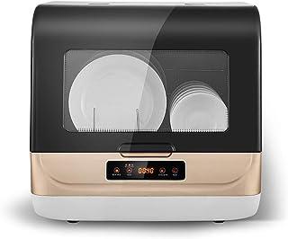 Lavavajillas inteligente de sobremesa, secado pequeño, desinfección, lavavajillas de esterilización con luz púrpura, limpieza rápida