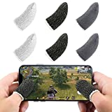 Newseego Mobile Game Finger Sleeve Controller, Touch Screen Finger Sleeve Breathable Anti-Sweat Sensitive Shoot and Aim Keys for Rules of Survival/Knives Out for Android & iOS[6 Pack]