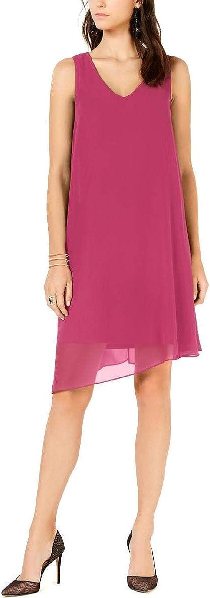 INC International Concepts Women's V-Neck Asymmetrical-Hem Sheath Dress