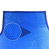 HYDT Cobertor Solar Piscina Cubierta de Piscina Solar Rectangular con Burbujas...
