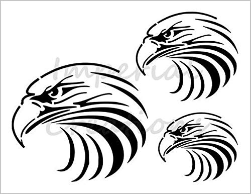 EAGLE 3 Sizes Head American Bald Large Bird 8.5' x 11' Stencil 20 Mil Plastic Sheet NEW S383