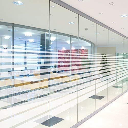 Solar Screen 5,91€/m² Milchglasfolie gestreift Sichtschutzfolie LINEAL 152cm Breite Laufmeterware Fensterfolie Selbstklebend Folie Dekofolie mit Streifen/Linien Milchglas