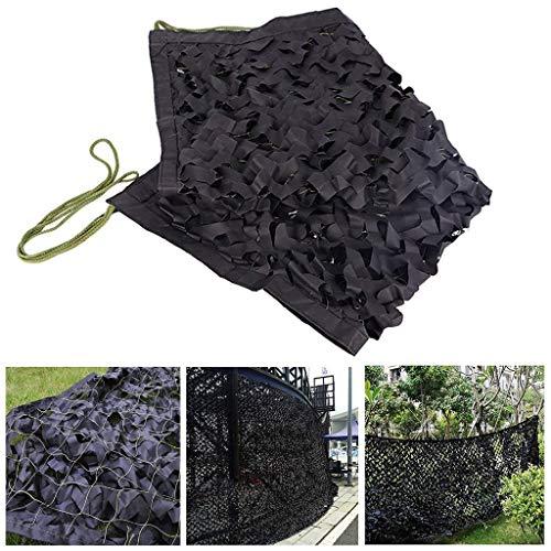 Qjifangzyp Awnings Zonneschermen Camouflage Nets Shading Nets Tent doek Canvas Geschikt voor Militaire Verborgen Jacht Kinderkamer Tuindecoratie Jacht Auto Cover 2x3m 3x5m Zwart Multi Size