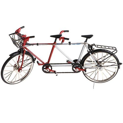 non-brand 1:10 Legierung Diecast Tandem Fahrrad Rennrad Modell für Schaufenster, Geschenk oder Kollektionen - Schwarz