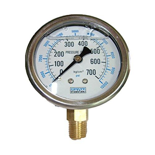 60MM Hydraulikdruck / Seismic ?l gefüllt Manometer Meter 700kg 10000 psi