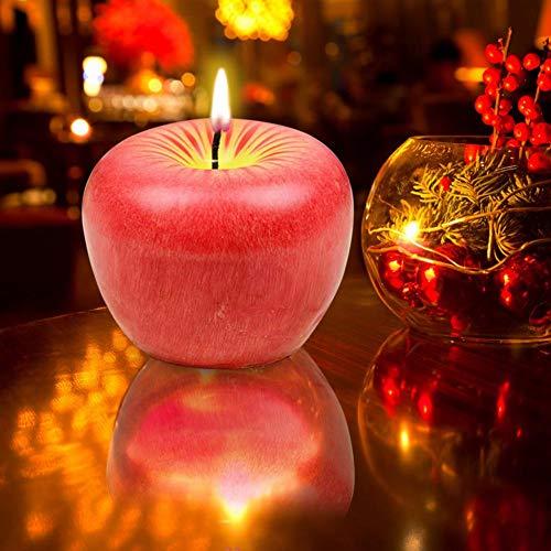 Wonderday geurkaars, kerst, kunst, rode appel, kaars, geurende rookvrij, romantische lieve fruitvorm, kaars, decoratie voor verjaardag, bruiloft, kaars, mooi geschenk
