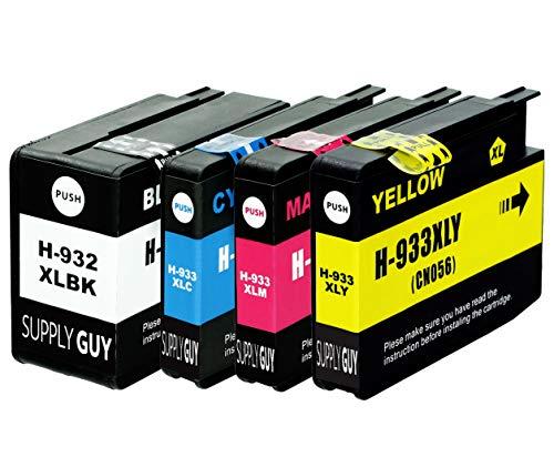 4 Cartucce Per Stampanti con Chip compatibile con HP 932 933 932XL 933XL per HP OfficeJet 6100 6600 6700 7110 7510 7600 7610 7612