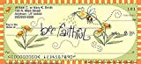 The Bradford Exchange Personal Checks   Top Tear Printed Personal Checks with Cheery Bumblebee Designs and Inspirational Quotes  Just Bee   1 Box Checks Personal Duplicates / 100 Checks (4 Scenes)