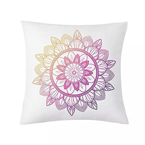 CSCZL Mandala Pattern Throw Pillow Case Mandala Printing Poliéster Fundas de Almohada Decorativas Funda de Almohada