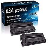 Cartucho de tóner para Impresora láser HP 03A C3903A, 2 Unidades, Color Negro, Compatible con 5 MP, 5 p, 6 Pse, 6 Pxi (Alta Capacidad) de Repuesto para Cartucho de tóner HP 03A C3903A