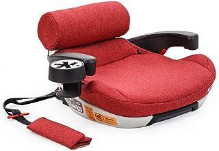 Welldon惠尔顿 安全座椅增高垫 乐乐高增高垫 isofix接口固定 适用于6-12岁 简易便携式儿童汽车用坐垫 (落樱粉)