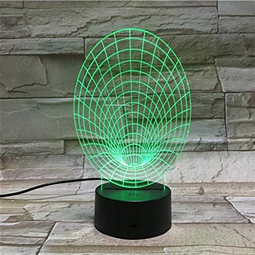 Optische Täuschung der Sichtlampe-3D führte Nachtlicht 7 ändernde Farben Noten-Nachtlicht Ein perfektes Weihnachts- und Neujahrsgeschenk für Mädchen und Jungen-Kleine Lautsprecher