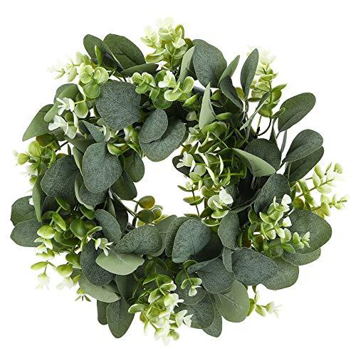 Grinalda de plantas de decoração de barras, grinalda de folhas verdes, 10,6 x 10,6 x 2 pol em plantas artificiais, escritório para casa