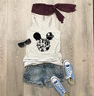 Star Wars Mickey Disney/True To Women's Fit/Women's Eco Tri-Blend Tanks/Screen Printed w. Eco Ink/Disney Trip Shirt/Disney Clothing/Triblend Tank/Free Shipping//