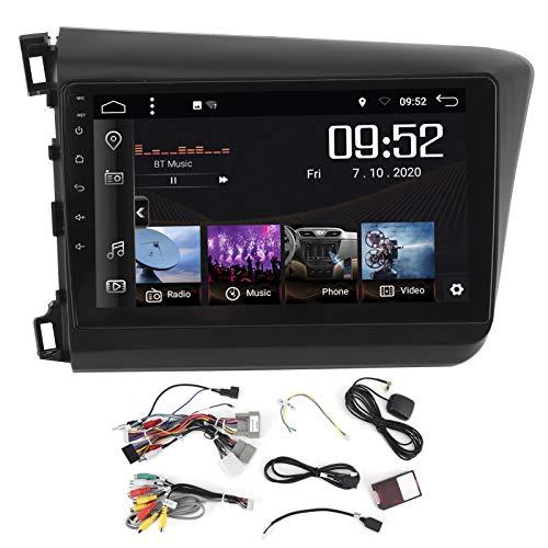 Navegación GPS para coche, sistema de navegador GPS automático de 9 pulgadas Pantalla táctil Reproductor Estéreo de coche 2 + 32G para Android 10.0 WIFI / 4G apto para Civic 2012-2015 LHD