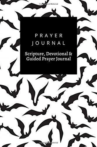 Prayer Journal, Scripture, Devotional & Guided Prayer Journal: Halloween Bat Scary Vampire Animal Silhouettes  design, Prayer Journal Gift, 6x9, Soft Cover, Matte Finish
