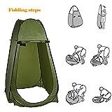 begorey Duschzelt Popup tragbar Camping Wanderzelt Umkleidezelt Toilettenzelt 104 x 104 x 190cm Camping, Strand, Im Freien (Grün)