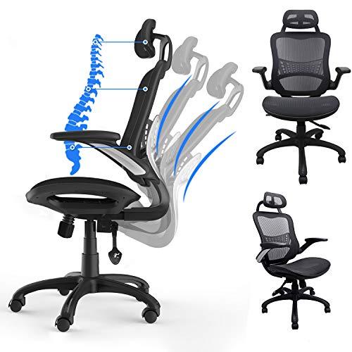 Komene Ergonomic Office Desk Chair - Breathable High Back Mesh Office Chair - Hold Up 300IBS -...