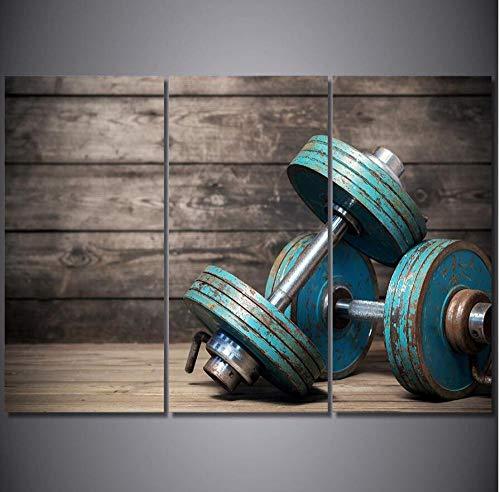 Mancuernas Fitness Culturismo 3 Unids 5D Kits De Pintura Diamante Taladro Completo Diy Tríptico Bordado Rhinestone Redondo Mosaico Punto De Cruz Decoración Para El Hogar Regalo