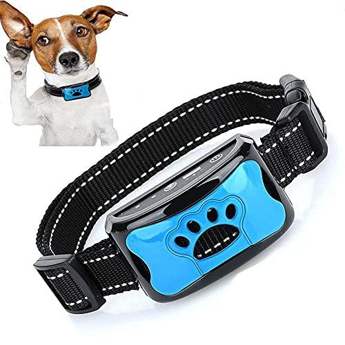 Kjy123 2 PCS Cuello de Perro Anti Bark, Cuello de Entrenamiento de Perros de ultrasonidos eléctricos USB Seguro Cuello de la Corteza inofensivo para pequeñas Razas de tamaño Grande