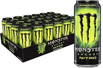 Monster Energy Nitro Super Dry Maximum Strength Drink 16 384 Fl Oz  Pack of 24