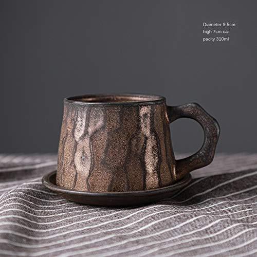 Juegos de té de Porcelana Japonés Vintage Taza y platillo de Porcelana Creativa Cerámica Juegos de té Simples Tazas de café de Viaje Tazas para café