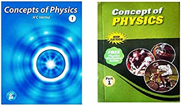 Concepts of Physics ( H C Verma ) Part1 with Solutions of both the Volumes - Set of 2 Books