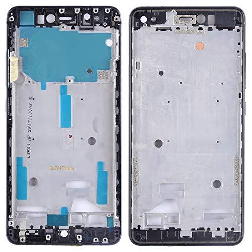 GUOHUI Piezas de Repuesto Carcasa Frontal LCD Marco Bisel Placa con Teclas Laterales para BQ Aquaris X/X Pro (Negro) Partes de telefono (Color : Black)