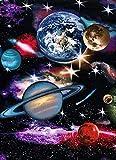 Reofrey 5D Diamond Painting Planeta Sistema Solar, Pintura Diamante Bricolaje Completo Taladro Arte, Punto de Cruz Diamantes Bordado Pegatinas de Pared Decoración de La sala (30x40cm)