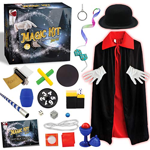 Graceduck Magic Tricks Kit for Kids - STEM Projects Toys Pretent Play Magician Dress Up Fun Stuff Outdoor Indoor Games Best Christmas Gifts for Boys Girls Toddlers Ages 5 6 7 8 9 10 11 12 Years Old