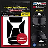 Yellow Bear Easy Replica Kit Universal Scorpion ExoTM, Kit de 6 pegatinas reflectantes para casco de moto, 3MTM Technology (negro)