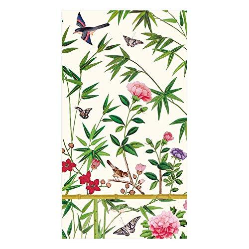 Caspari Chinese Wallpaper Cream erhalten mit Servietten Stoff/Papier Creme, Stoff, cremefarben, 16.25x20x0.02 cm